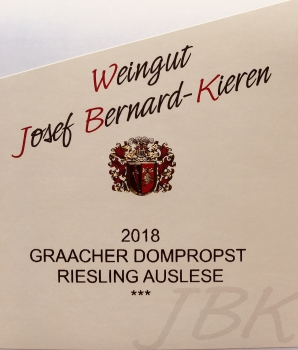 2018 Riesling Auslese ***